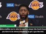 BASKETBALL: NBA: Waiving four million dollars would have been worth getting Kawhi - Davis