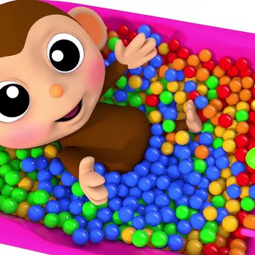 Learn Colors Baby Monkey Bath Time Bunny Mold Finger Family Song for Kid Children