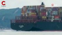 399 metrelik dev gemi Çanakkale Boğazı'ndan geçti