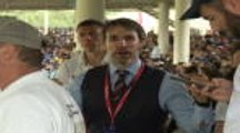 It's coming home! - Gareth Southgate look-alike enjoys cricket World Cup final
