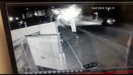 Câmeras de segurança registram acidente com caminhão que matou PM na Grande Curitiba
