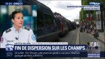 """La préfecture de police affirme que """"le calme est revenu au niveau des Champs-Elysées"""""""