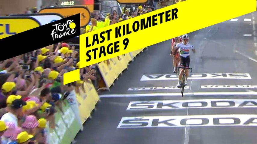 Last kilometer / Flamme rouge - Étape 9 / Stage 9 - Tour de France 2019