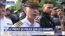 """Champs-Elysées: le préfet de police de Paris assure que """"l'ordre a été rétabli"""""""