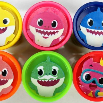 Learn Colors with Baby Shark Play-doh Surprises - Plush Toys from Kids Song