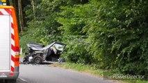 Sept blessé dans un impressionnant frontal à Floreffe