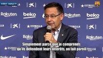 Bartomeu se défend après les accusations de l'Atlético de Madrid