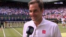 """Wimbledon - Roger Federer : """"Ça a été un grand match"""""""
