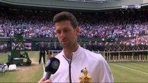Wimbledon : L'hommage de Djokovic à Federer