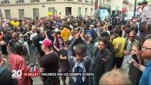 14-Juillet : des tensions après le défilé des Champs-Élysées