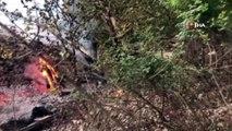 Manisa Spil Dağına düşen yıldırım ormanı küle çevirecekti
