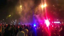 Les supporters de l'Algérie après la demi finale de la CAN 02