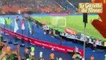 But de Mahrez depuis les tribunes... c'est la folie !!!