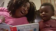 Baby Boy Laughs When Mom Reads Storybook
