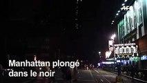 Panne d'électricité géante à Manhattan, Times Square dans le noir