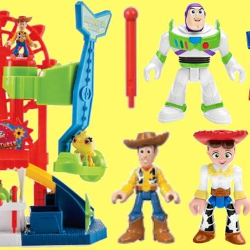 Disney Pixar Toy Story 4 Imaginext Carnival Play Set with Woody, Buzz, Ducky