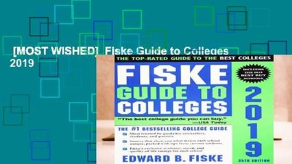 [MOST WISHED]  Fiske Guide to Colleges 2019