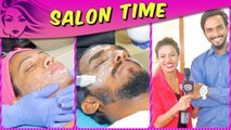 TikTok Stars AJ And Nita Shilimkar TRANSFORMATION In Salon Time With TellyMasala
