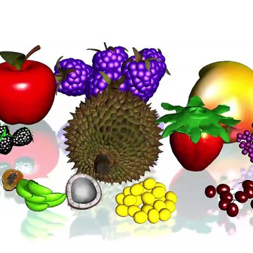 Learn Colors Names With Fruits For Childrens ## || Apple Banana Lemon Mango Strawberry Grapes Coconut