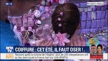 Chouchous fluo, barrettes, couronnes de fleurs et bandanas. Quelles sont les tendances coiffure de l'été ?