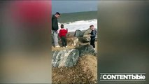 When skipping stones goes wrong!