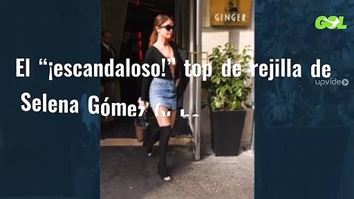 """El """"¡escandaloso!"""" top de rejilla de Selena Gómez (y hay una sopresa más en la foto). http://bit.ly/2BuUAGT"""