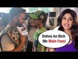 Shilpa Shetty's BEDROOM becomes WWE wrestling ground as RAJ KUNDRA & son Vihan WRESTLES