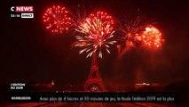 Regardez en vidéo  le bouquet final du feu d'artifice du 14 juillet à Paris qui a émerveillé les spectateurs