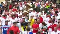 35 personnes blessées dont huit encornées lors les lâchers de taureaux pendant les fêtes de Pampelune, dans le nord de l'Espagne -