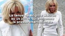 La tenue de Brigitte Macron  au 14 juillet qui enflamme la presse internationale !