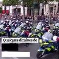 14 juillet agité sur les Champs-Élysées