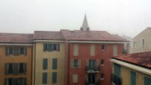 Un violent orage de grêle s'abat sur Fréjus