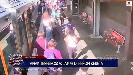 DUNIA PUNYA CERITA -_Anak Terperosok Jatuh di Peron Kereta