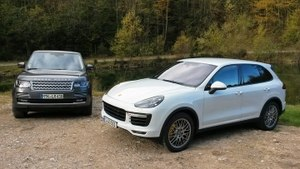 Range Rover Supercharged and Porsche Cayenne Turbo