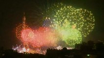 Bastille Day Fireworks light up the skies of the French capital