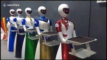 Les serveurs sont des robots dans ce restaurant