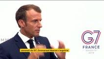 """Le G7 n'a pas donné de """"mandat formel"""" à la France pour négocier sur le nucléaire iranien, prévient Macron"""