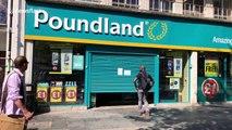 Poundland customers crawl into UK shop after shutter jams