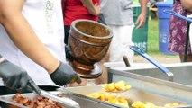 New York City Street Food - Mofongo with Fried Pork Chicharrón