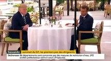 """Spéciale G7 à Biarritz : Le déjeuner d'hier entre Donald Trump et Emmanuel Macron à l'Hôtel du Palais était-il vraiment """"improvisé"""" ?"""