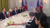 G7 : rencontre au sommet entre Johnson et Trump