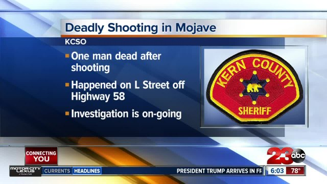 Shooting in Mojave leaves one man dead
