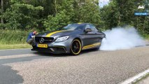 INSANE BURNOUT with 745HP C63 AMG Akrapovic by AutoTopNL