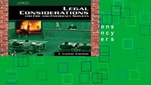 Legal Considerations for Fire and Emergency Services  Best Sellers Rank : #3