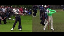 The difference between Justin Thomas and Rory Mcilroy swings