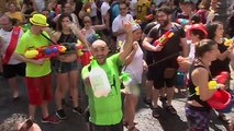 Madrid residents take part in annual water fight