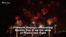 Watch back: Bastille Day fireworks in Paris