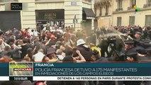 Policía francesa reprime a Chalecos Amarillos y arresta a 175 personas