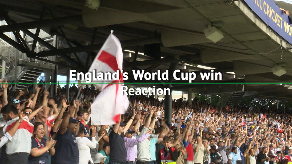 England win the Cricket World Cup