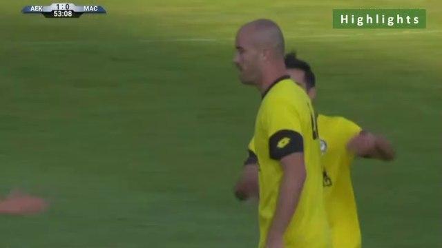 1-1  Roman Golobart AMAZING Foul Goal - AEK 1-1 Maccabi Netanya 15.07.2019 [HD]